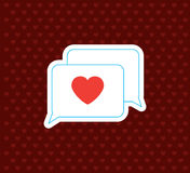 Love Messege. Valentine`s Day Icon. Vector Illustration Stock Photos