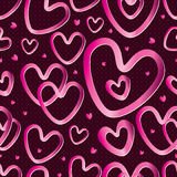 Love Metal Seamless Pattern. Illustration of pink metal love shape seamless pattern. --- This .eps file info Version: Illustrator 8 EPS Document: 5 * 5 Inches ( royalty free illustration
