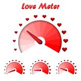 Love meter, Valentine`s Day card design element. Vector illustration Stock Photography