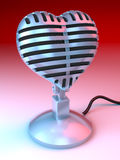 Love Microphone Stock Image