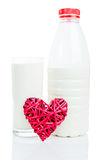 Love for milk Royalty Free Stock Photo