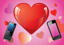Love mobile Royalty Free Stock Photo