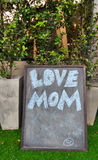 Love mom menu board Royalty Free Stock Photos