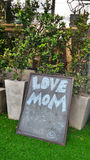 Love mom menu board Royalty Free Stock Images