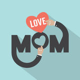Love Mom Typography Design Royalty Free Stock Photos