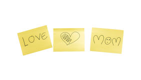 Love and mom word Royalty Free Stock Image