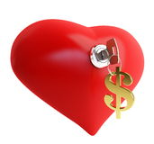 Love for money. On a white background Royalty Free Stock Photography