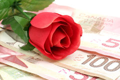 Love and money Royalty Free Stock Images