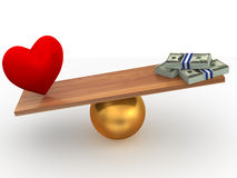 Love or Money Stock Images