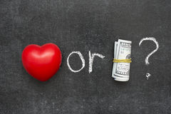 Love or money royalty free stock photography