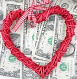 Love and Money Royalty Free Stock Image