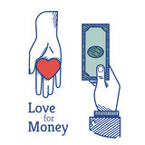 Love for money Stock Photography