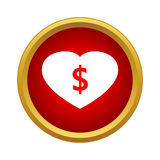Love money icon, simple style Royalty Free Stock Photo