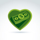 Love money success, greed, crediting and depositing, wealth and Stock Photo