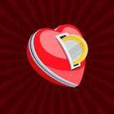Love for money. Vector Eps10 illustration Royalty Free Stock Photography