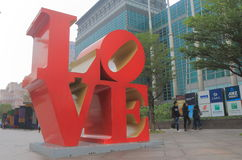 Love monument at Taipei 101 Taiwan. Love monument at Taipei 101 in Taipei Taiwan Royalty Free Stock Photo