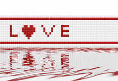 Love mosaic Stock Photography