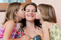 Love - mother with children Royalty Free Stock Photos