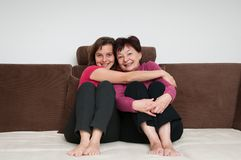 Love - mother and daughter at home Stock Photos