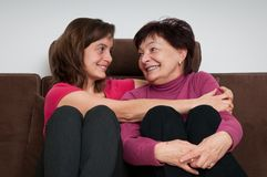 Love - mother and daughter at home Royalty Free Stock Photos