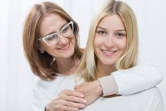 Love between mother and daughter Stock Photography