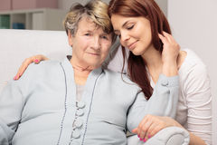 Love between mother and daughter lasts forever Stock Photo