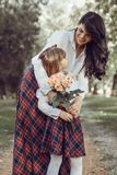 Love between mother and daughter stock image