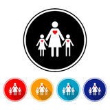 The love of a mother towards her children. Men and women Stock Image