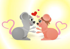 The love mouses Royalty Free Stock Image