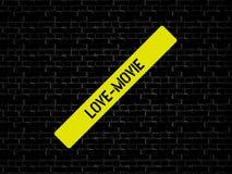 LOVE-MOVIE - изображение при слова связанные с КИНО темы, слово, изображение, иллюстрация стоковые фото