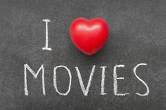 Love movies Royalty Free Stock Images