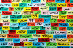Love multilingual word Royalty Free Stock Photo