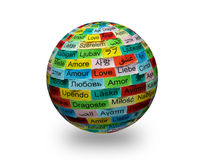 Love multilingual word 3d Royalty Free Stock Photography