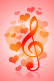 Love and Music Royalty Free Stock Photography