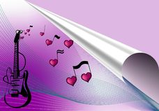 Love music background Stock Images