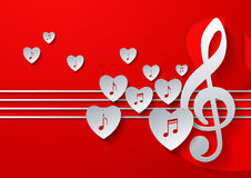 Love Music Concept Design Royalty Free Stock Photography