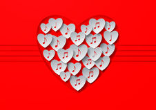 Love Music Concept Design Stock Photo