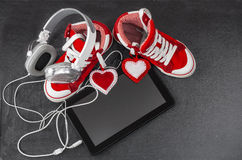 Love for music concept. Royalty Free Stock Image