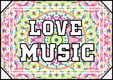 Love Music. 2d design of a Love Music poster royalty free illustration