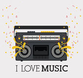 Love music vector illustration
