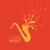 Love  music Stock Images