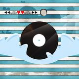 Love music love ocean. Love music on wood background royalty free stock photo