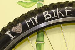 Love my bike Stock Image