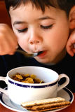 Love my cereal and raisins. royalty free stock photo