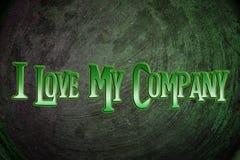我Love My Company 库存照片
