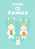 Love my Family card template Royalty Free Stock Image