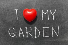 Love my garden Stock Photography