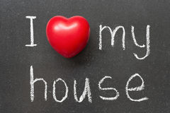 Love my house Royalty Free Stock Images