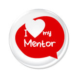 Love My Mentor Badge. I Love my mentor badge vector illustration