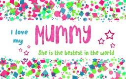 Love My Mummy Card Royalty Free Stock Photography